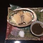 分とく山 - あわびの天ぷら