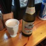 たちのみいしまる - 中瓶ビール450円
