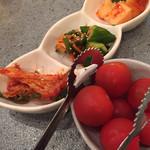 炭火焼肉 安部え - キムチ&ルビー焼き