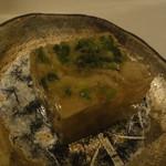 鶏割烹 ならや - 季節のコース5800円・①先付(鳥皮の煮凝り)