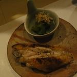鶏割烹 ならや - 季節のコース5800円・④焼物3種・手羽中