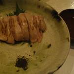 鶏割烹 ならや - 追加品・大和肉鶏白肝の炙り1680円