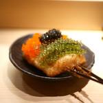 again - 3色串(キャビア、海ブドウ、トビコ)