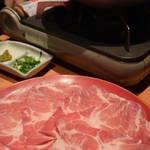 75564995 - 栗(マロン)豚の塩麹しゃぶしゃぶ