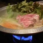 75565054 - 栗(マロン)豚の塩麹しゃぶしゃぶ