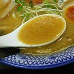 愛と情熱のらーめん屋 皐月亭 - こってり 味噌ラーメン + 激ウマ半熟煮たまご