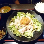 menshubouminowa - 豚しゃぶポンズ定食(990円)