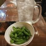 づめかん - チューハイ 大ジョッキと枝豆