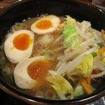 つけ麺 てつ蔵 - 「野菜つけ麺+味玉(\750+\100)」のつけ汁。