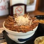 なまらうまいっしょ - 特上国産本ロース豚丼味噌汁付きセット960円