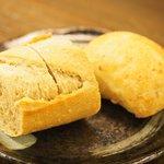 樹癒え - ランチコース 4210円 のパン