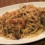 イルモンドピッコロ - シチリア風 サンマのウイキョウのスパゲッティ 旬のサンマたっぷり ウイキョウははじめてですがハーブらしいです