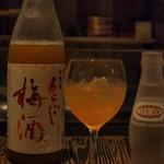 かつ好 - あらごし梅酒(ソーダ割り)