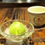 かつ好 - 抹茶アイス(かなり美味)