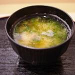 寿司 う月 - 味噌汁
