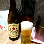 札幌 炎神 - 瓶ビールは赤星です。《サッポロラガー中瓶》【Oct.2017】