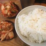 塩元帥 - ライス キムチ ご飯アツアツnice
