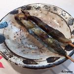 75577273 - 細魚の皮串焼