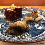 75577274 - 煮鮑、穴子の白焼、蛸の桜煮