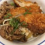 かつや - 料理写真:チキンカツの牛すき丼(税込637円)(2017.10現在)
