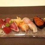 北の味物語 わたなべ - 寿司全景