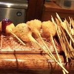 串かつ あーぼん - デザート串カツ4種