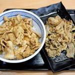 吉野家 - 豚丼の並盛と牛皿の並盛