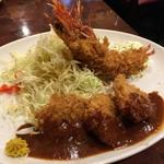 75590475 - 一口カツ&海老フライ定食(¥1080)