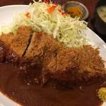 75590486 - 特大ヒレとんかつ定食(¥1100)