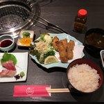 あみ焼き 天びん屋 - かきフライ定食 1480円
