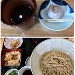 まんえい堂 生蕎麦処 お福食堂 - お福そば(冷) 842円 季節のおこわは松茸おこわ♪