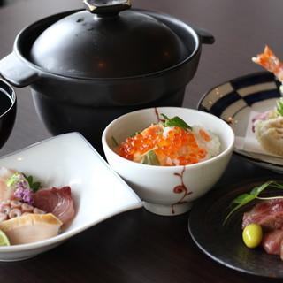 最高のロケーションと和やかな雰囲気で季節の和食を愉しむ。