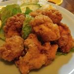 七福 - 鶏の唐揚げ 醤油や生姜の風味が食欲ソソります♪