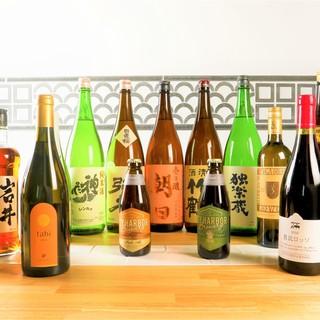 純米酒、クラフトビール、日本ワイン、お酒も色々揃ってます。