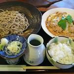 信州手打ちそば ゆう和 - 煮かつセット(せいろ+煮かつ+ごはん+小鉢)1800円
