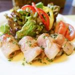 洋食 三浦亭 - 牡蠣のベーコン巻き
