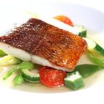 レストラン クララ - 【お野菜とお魚のフレンチコース】メイン