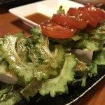 ぶんみゃあ - 島豆腐とゴーヤのサラダ