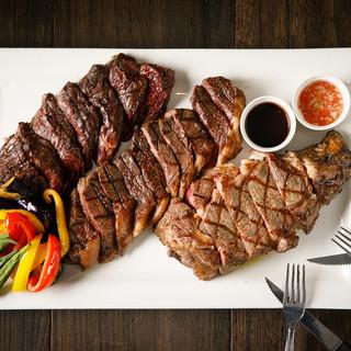 ◎迫力満点◎直火で豪快に焼き上げた上質なステーキに舌鼓