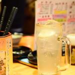 立飲みカドクラ - レモンハイ@税込300円