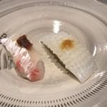 75605436 - ヤリイカと鯛、それぞれに絶妙な味が!