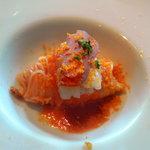 7561205 - 縞海老とカラスミの冷製カッペリーニ