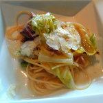 7561207 - 大和肉鶏と春キャベツのスパゲッティーニ  パルミジャーノ添え