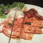 幸元 - お肉はやっぱりカルビとハラミ。他にもいろいろ頼んだケド(笑)