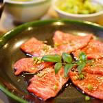 焼肉ハウス マンボウ - カルビ+ロース定食 (¥1,150)