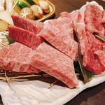 炭焼厨房みつわ - 肉盛り合わせ