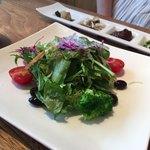 キャトルセゾン 旬 - 野菜づくし御膳 1380円   前菜とサラダ