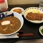 75620961 - カツカレーうどん&いなり寿司