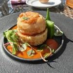 プリムローズガーデン ガーデンカフェ - 魚介のガレット 色どり野菜のクスクストマトソース