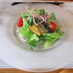 イタリアンキッチン いしかわ - パスタランチ 1,200円(税込)の サラダ。        2017.10.22